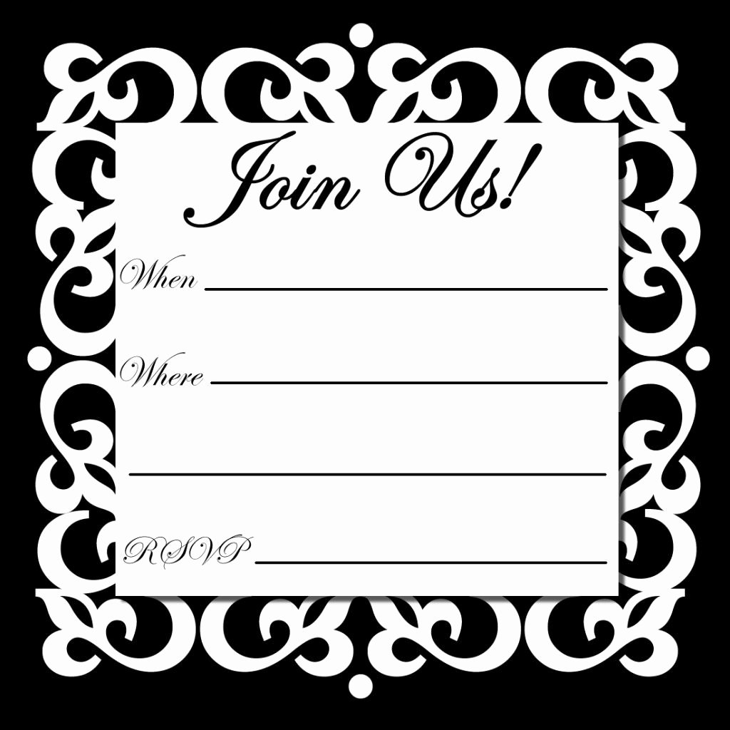 Black and White Invitations Awesome Free Line Printable Party Invitations Birthday