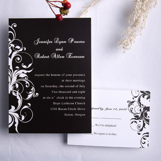 Black and White Invitations Best Of Classic Black and White Damask Wedding Invitations Ewi023 as Low as $0 94