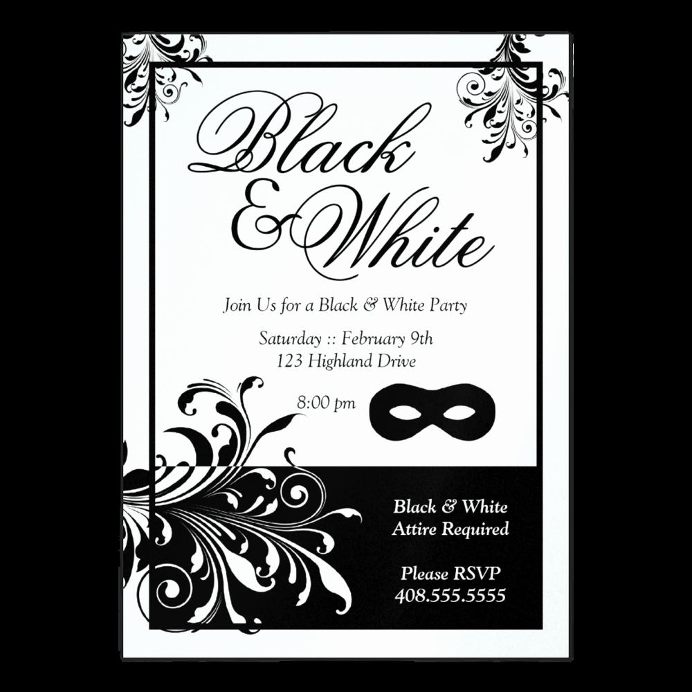Black and White Invitations Fresh Black and White Invitations Templates