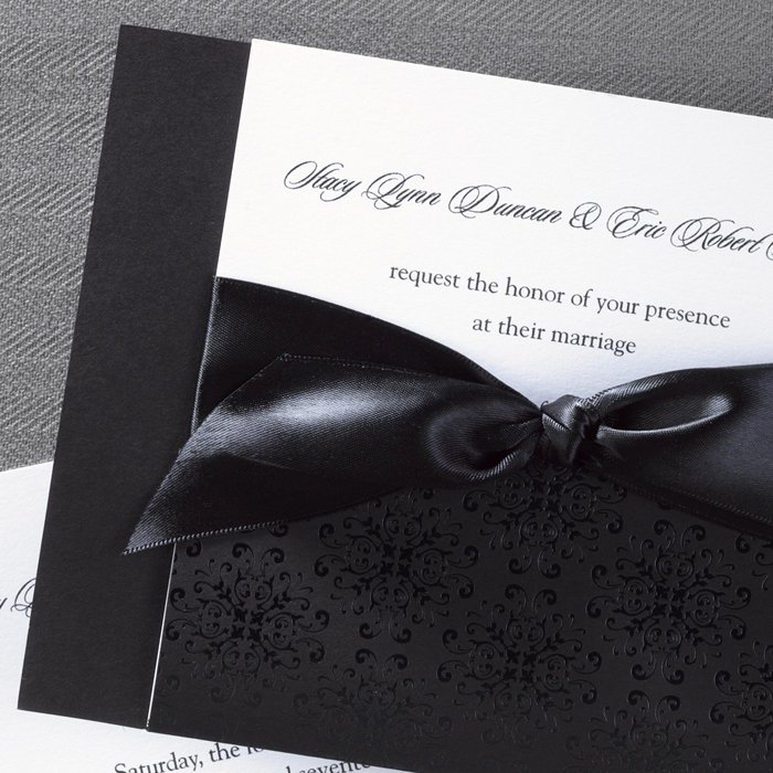 Black and White Invitations Fresh Classic Black and White Wedding Invitations Little Flamingo