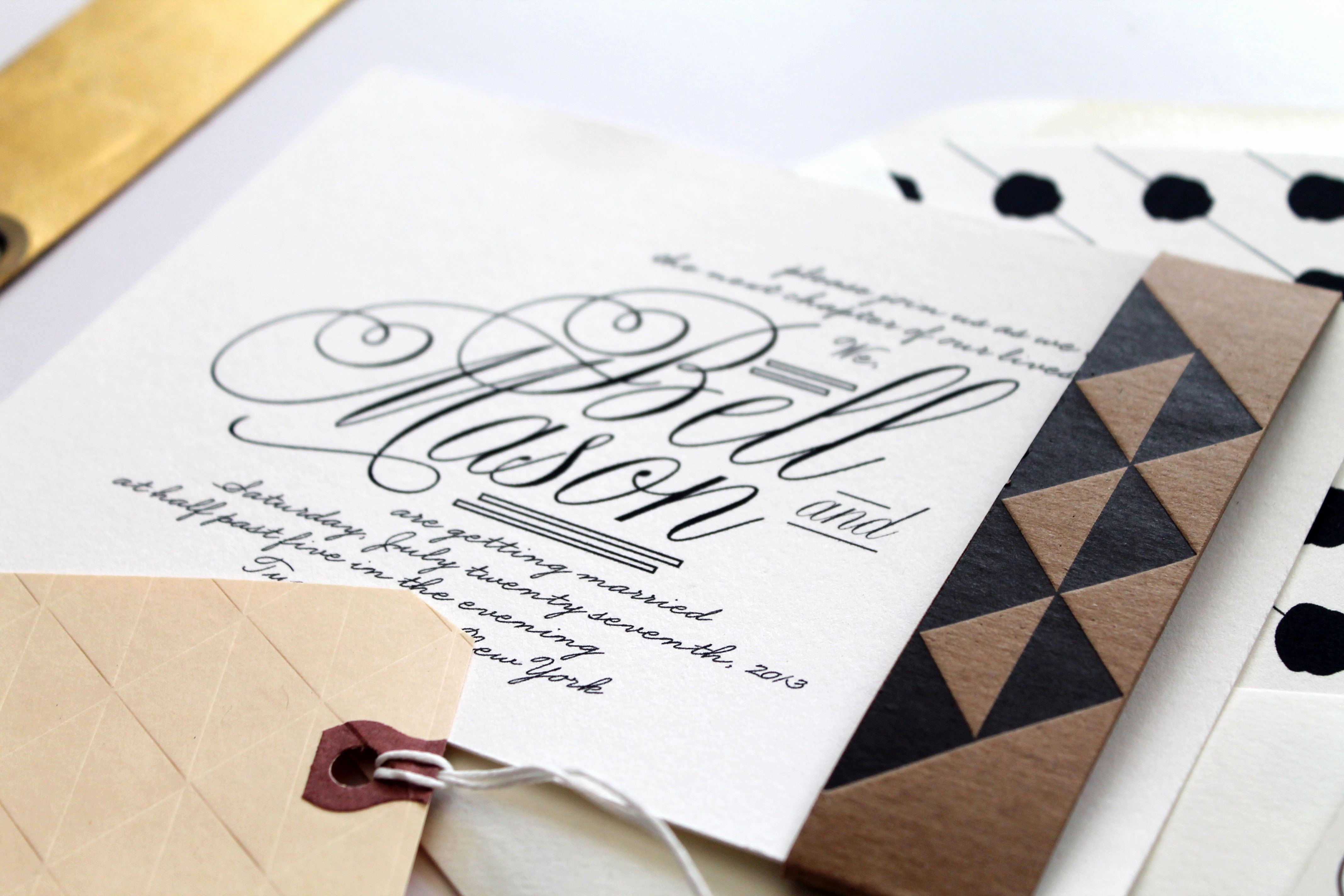 Black and White Invitations Lovely Bell Mason S Black and White Wedding Invitations