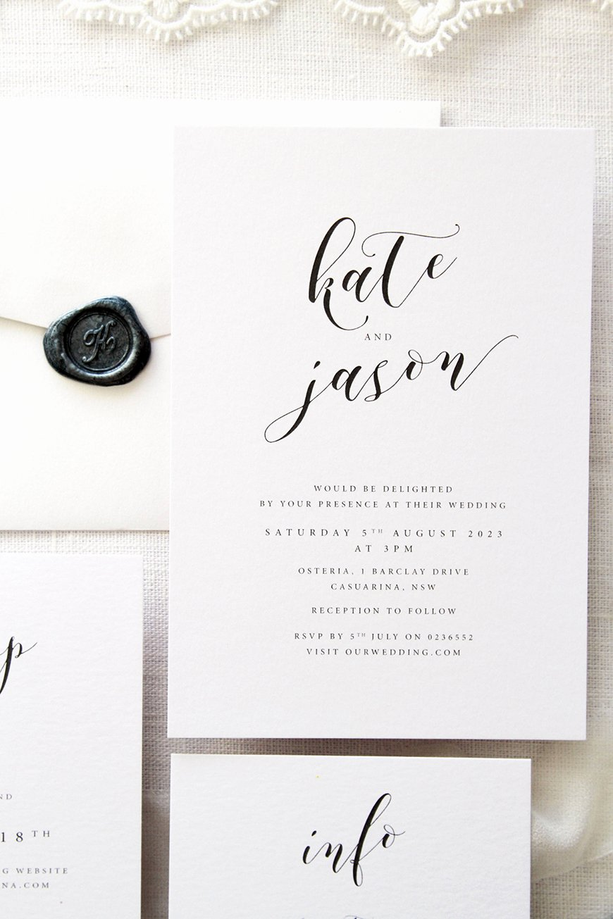 Black and White Invitations Luxury Black and White Wedding Invitations Wedding Ideas by Colour