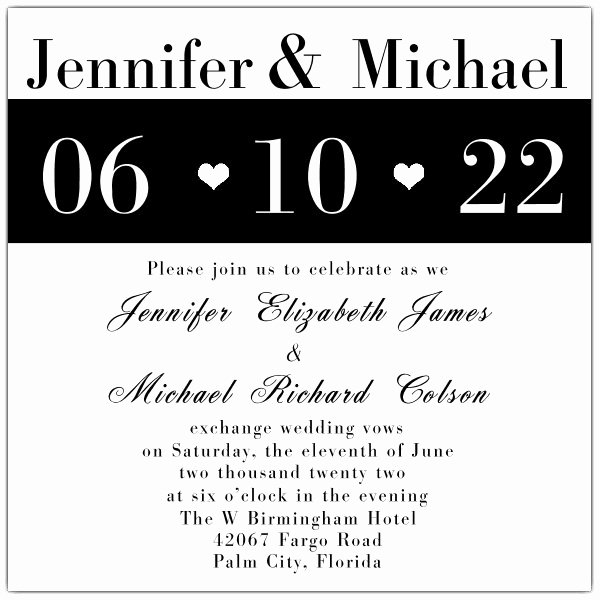 Black and White Invitations Luxury Modern Black and White Wedding Invitations