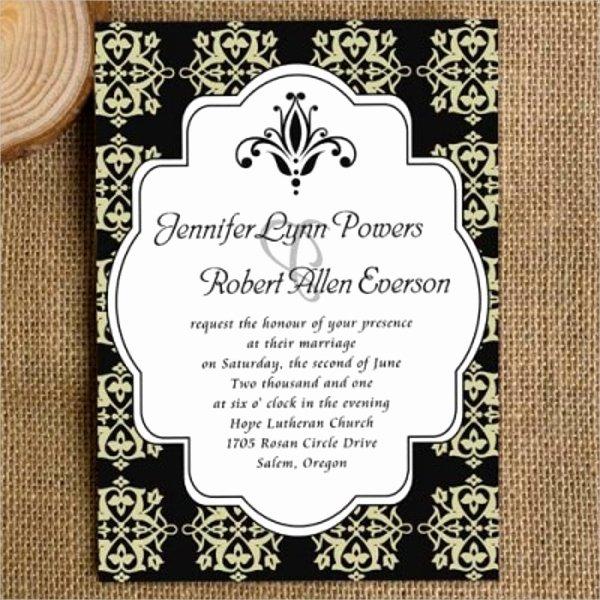 Black and White Invitations Unique 22 Wedding Invitations