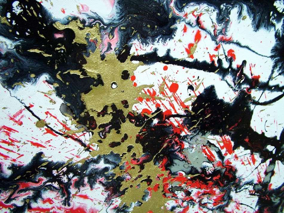 Black and White Paintings Beautiful Red White and Black Abstract Art original Painting