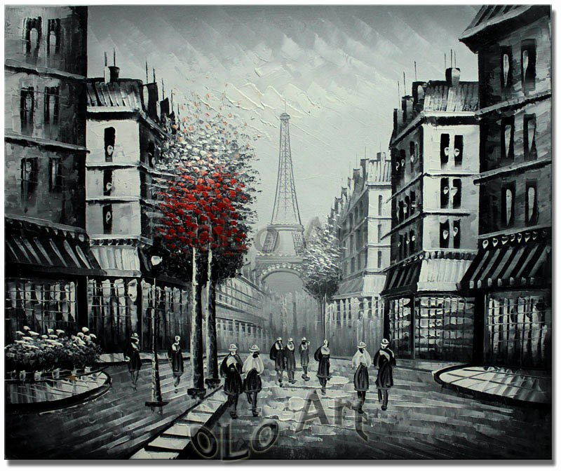 Black and White Paintings Luxury Paris Paris Eiffel tower Black and White