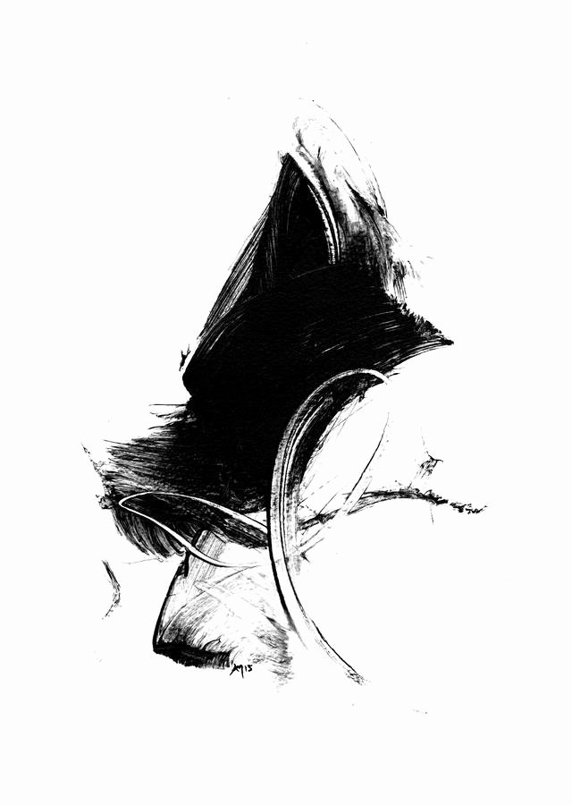 Black and White Paintings New Black and White Gestural Abstract Art Print by Paul Maguire Art