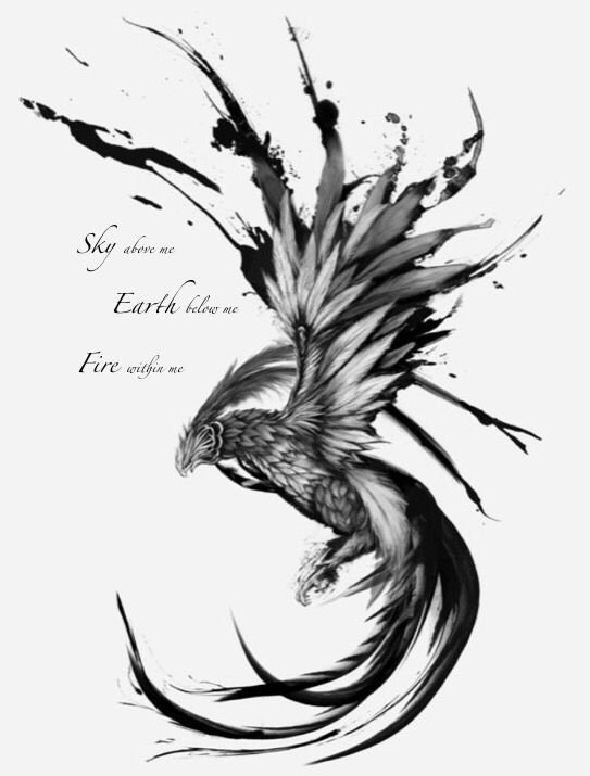 Black and White Phoenix Best Of 111 Phoenix Tattoos and Designs with Meanings