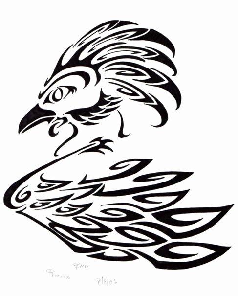 Black and White Phoenix Inspirational Phoenix Black and White Ink by Elvenkenshin On Deviantart