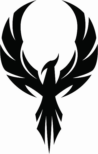 Black and White Phoenix Luxury Phoenix Clipart