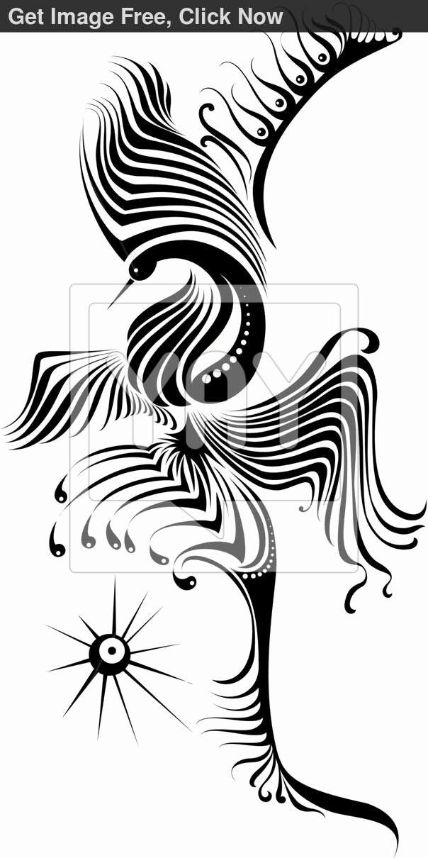 Black and White Phoenix Luxury Royalty Free Vector Of A Black and White Phoenix