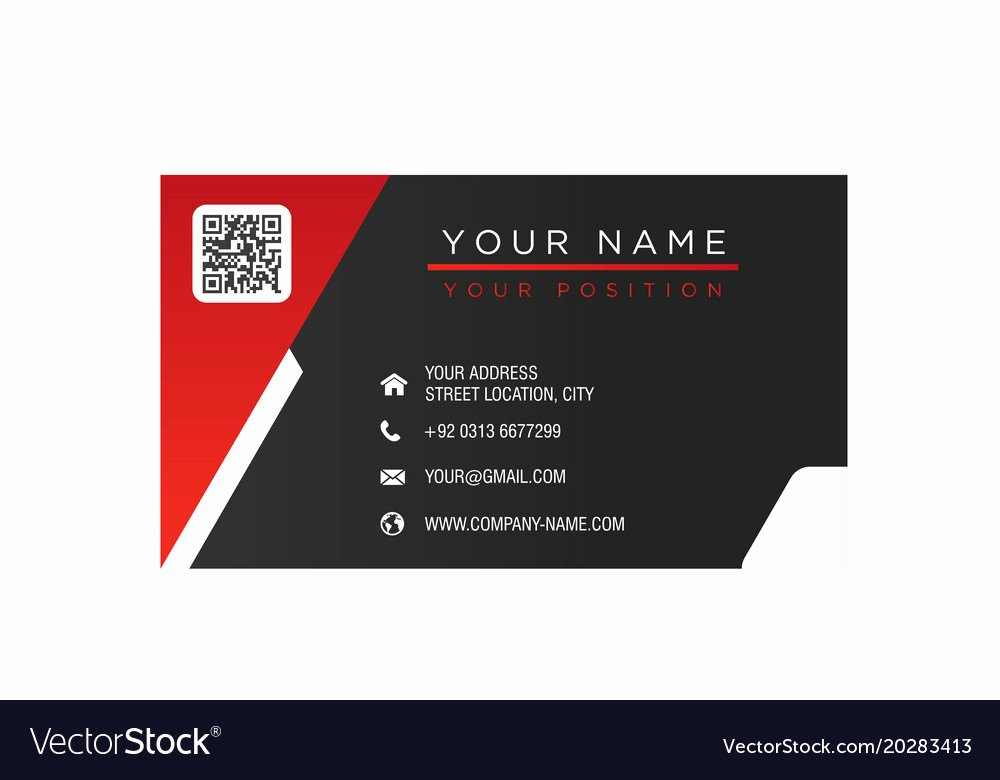 Black Business Card Background Awesome Business Card Red and Black Background Imag Vector Image