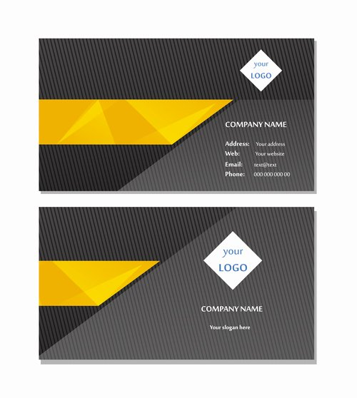 Black Business Card Background Beautiful Black Background Gold Bar Business Card Design Vector Free