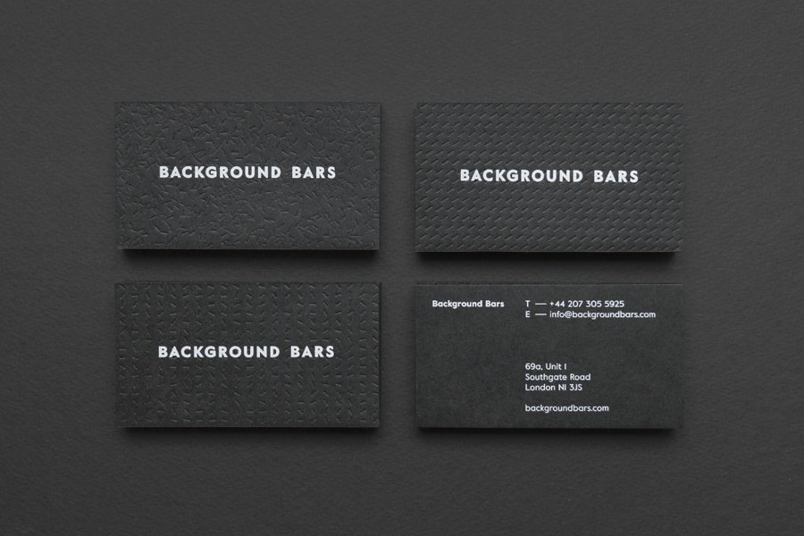Black Business Card Background Elegant Black & White In Branding & Packaging Design — Bp&o
