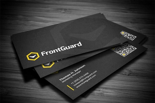 Black Business Card Background Fresh Creative Black Corporate Business Card Template with High Detailed Background Texture Embedded