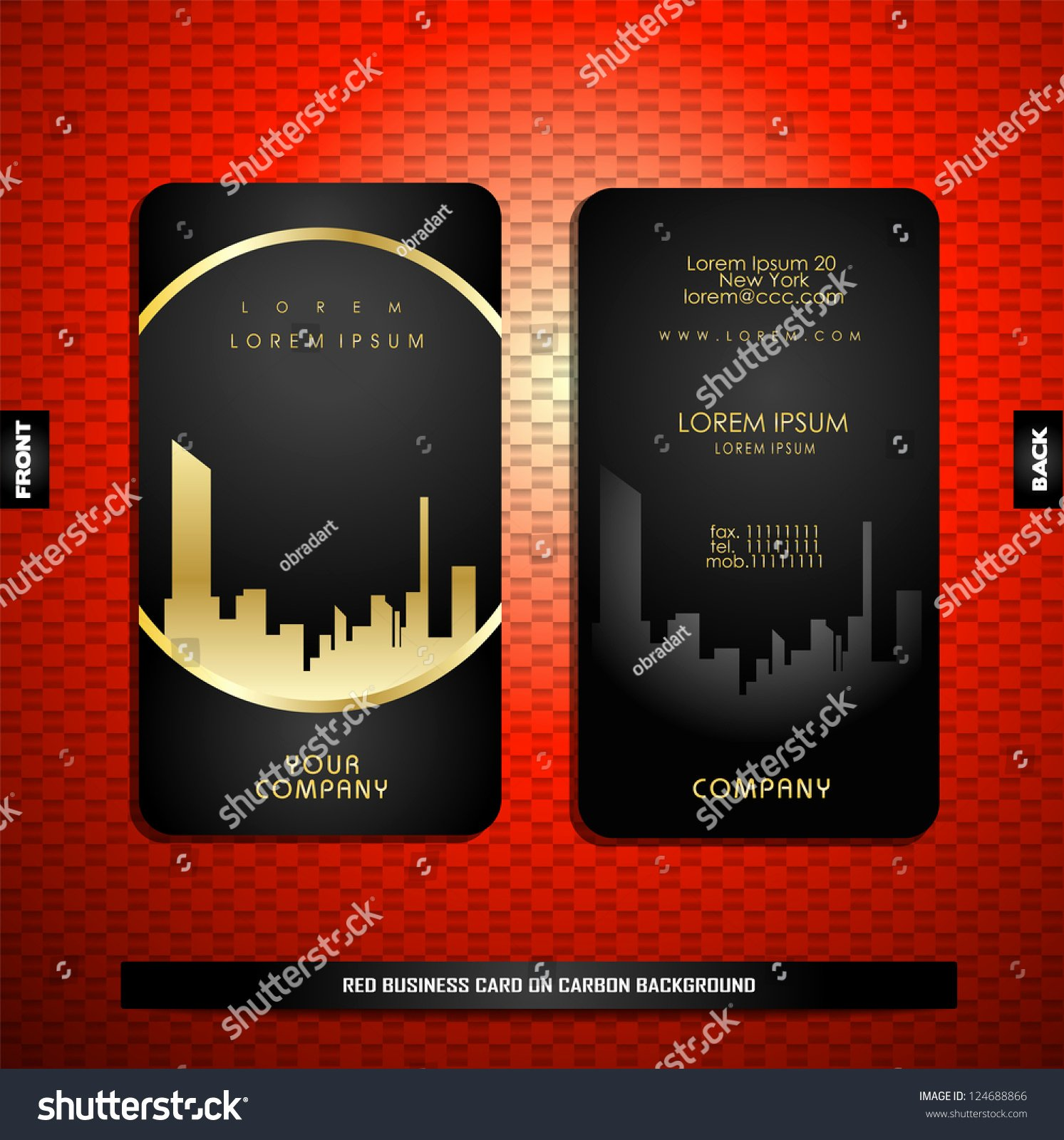 Black Business Card Background New Black Gold Business Card Carbon Stock Vector Shutterstock