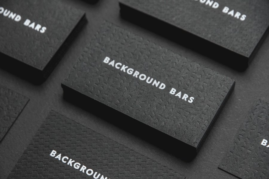 Black Business Card Background Unique New Logo for Background Bars by Campbell Hay — Bp&o
