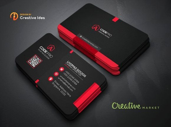 Black Business Card Template Awesome Black Business Card by Creative Idea On Graphicsauthor Templates