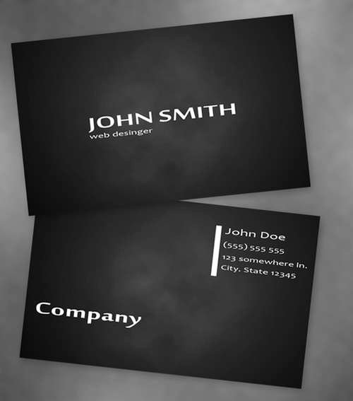 Black Business Card Template Best Of 60 Absolutely Free Dark and Black Business Card Templates
