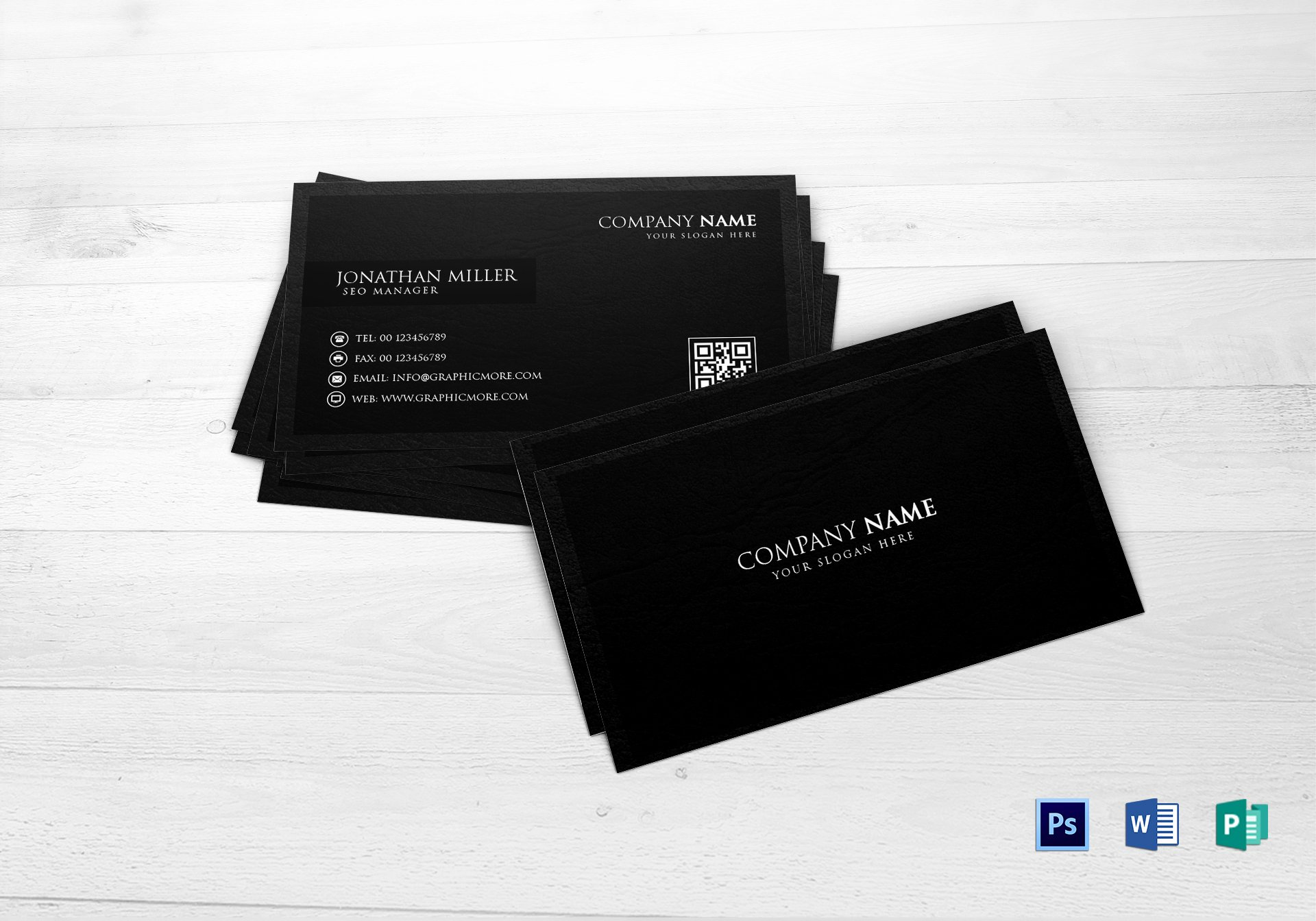 Black Business Card Template Best Of Black Business Card Design Template In Word Psd Publisher
