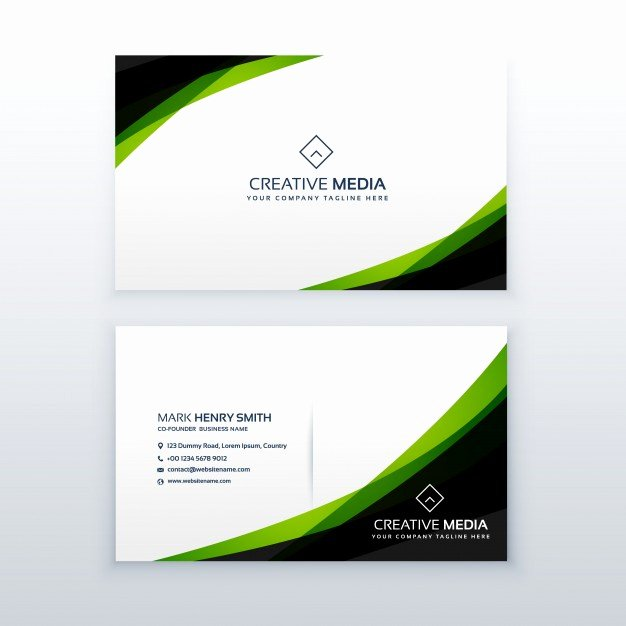 Black Business Card Template Fresh Green and Black Business Card Template Vector