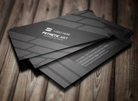 Black Business Card Template Lovely Free Creative Black Business Card Template Psd Titanui