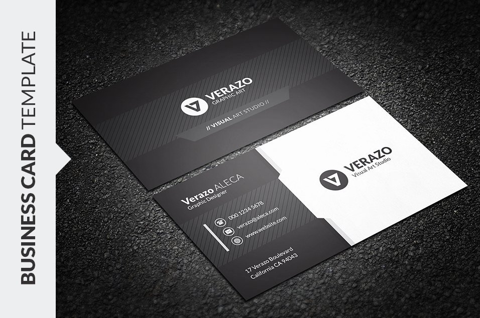 Black Business Card Template Luxury Black & White Business Card Business Card Templates Creative Market