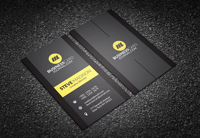 Black Business Card Template Unique 35 Free Black Business Card Psd Templates Designyep