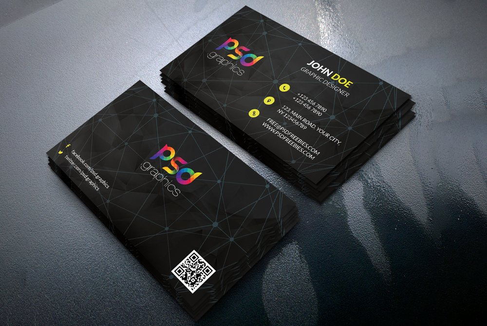 Black Business Card Template Unique Black Business Card Template Free Psd