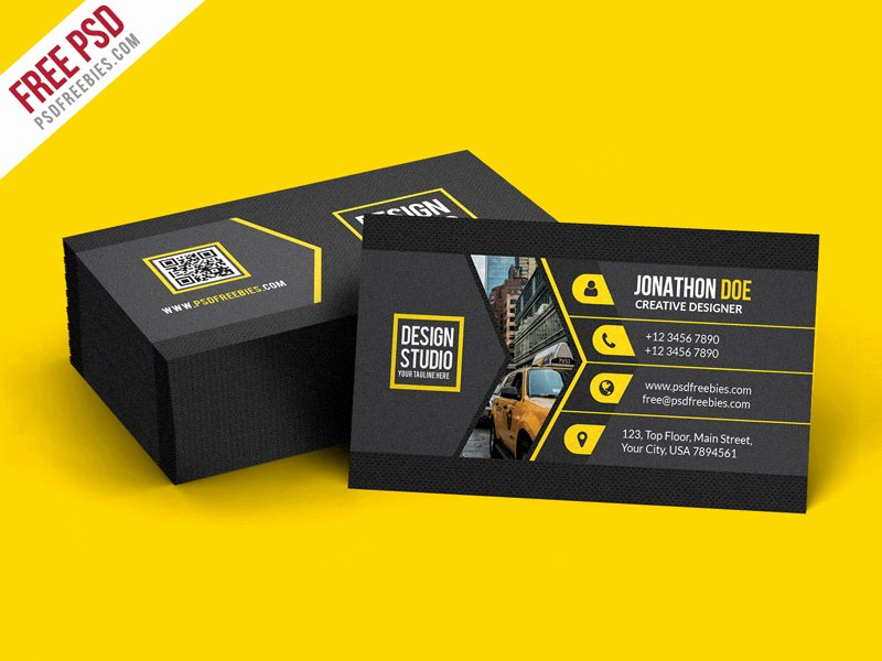 Black Business Card Template Unique Creative Black Business Card Template Psd