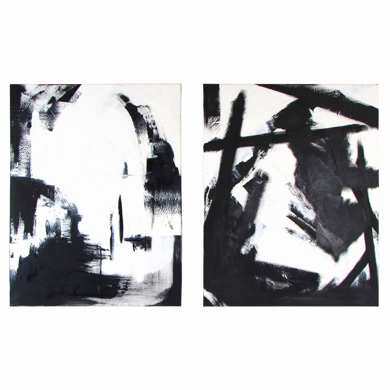 Black White Abstract Painting Awesome Black and White Oil On Canvas Abstract Paintings by