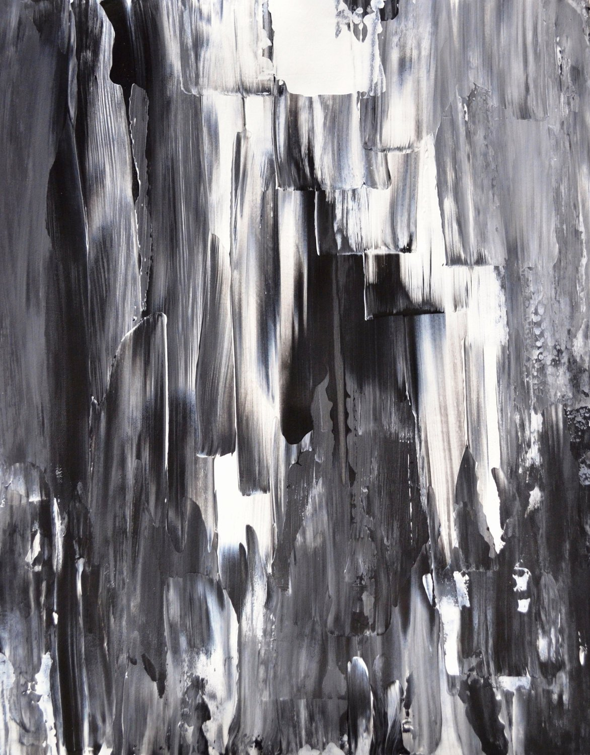 Black White Abstract Painting Beautiful Acrylic Abstract Art Painting Black White Grey Modern