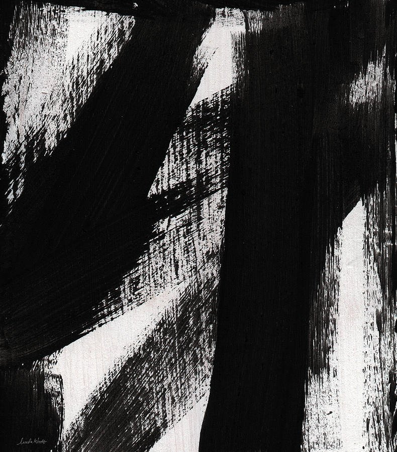 Black White Abstract Painting Fresh Timber Vertical Abstract Black and White Painting
