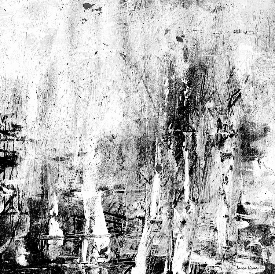 Black White Abstract Painting Lovely Old Memories Black and White Abstract Art by Laura Gomez
