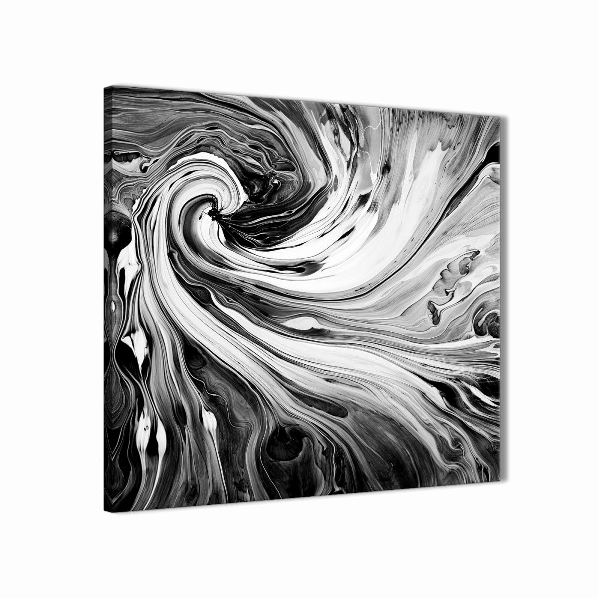 Black White Abstract Painting Luxury Black White Grey Swirls Modern Abstract Canvas Wall Art