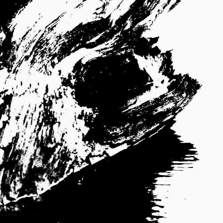 black white abstract painting artwork