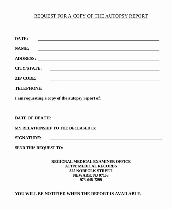 Blank Autopsy Report Template Beautiful Autopsy Report Template 6 Free Word Pdf Documents Download