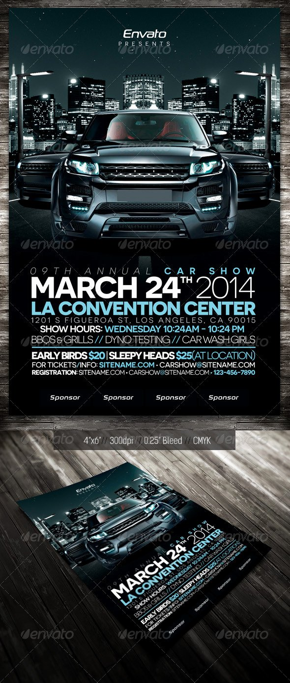 Blank Car Show Flyer Awesome Blank Night Show Flyer Tinkytyler Stock S & Graphics