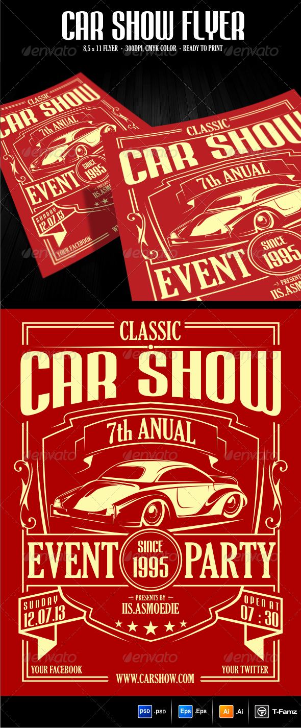 Blank Car Show Flyer Awesome Car Show Flyer Template by T Famz