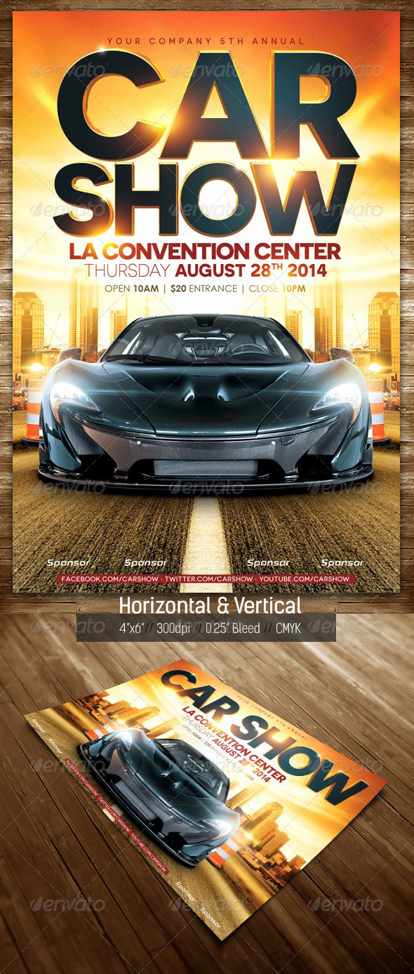 Blank Car Show Flyer Awesome Free Car Show Flyer Template Tinkytyler Stock S & Graphics
