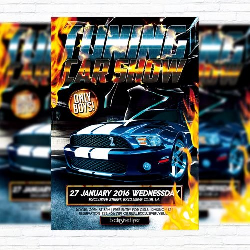 Blank Car Show Flyer Elegant Tuning Car Show – Premium Flyer Template Cover Exclsiveflyer