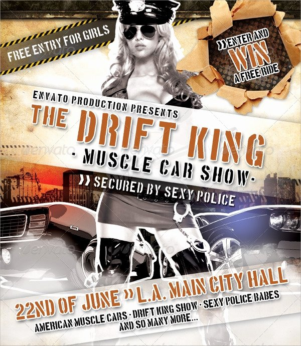 Blank Car Show Flyer Inspirational Car Show Flyer Template 20 Download In Vector Eps Psd