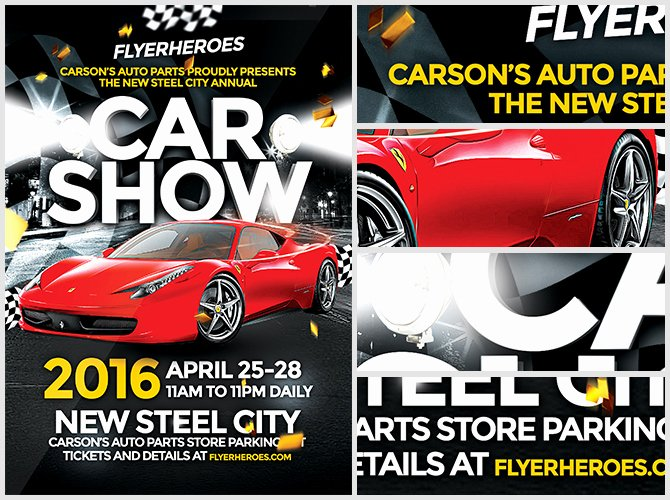 Blank Car Show Flyer Inspirational Car Show Flyers