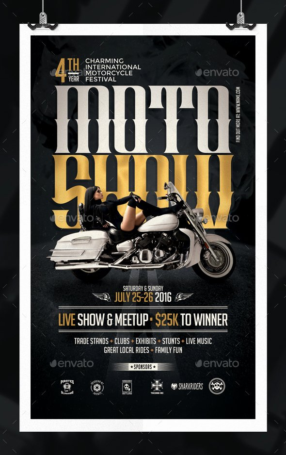 Blank Car Show Flyer Inspirational Motorcycle Show Flyer Template by Eamejia