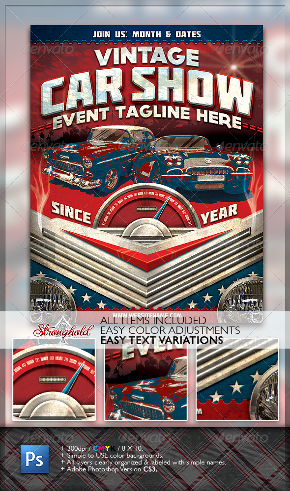Blank Car Show Flyer Inspirational Vintage Car Show Flyer Psd Free Download Dondrup