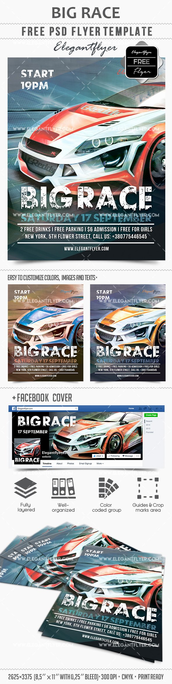 Blank Car Show Flyer Lovely Big Race – Free Flyer Psd Template – by Elegantflyer