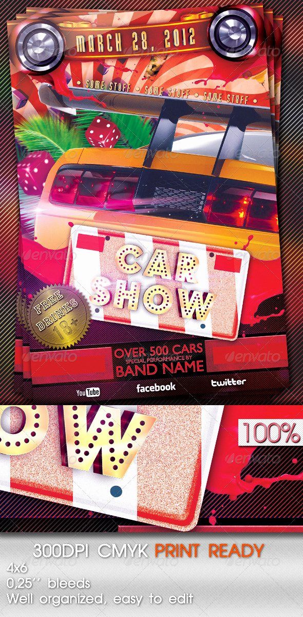 Blank Car Show Flyer Luxury Car Show Flyer Template