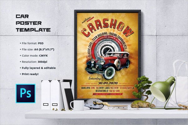 Blank Car Show Flyer New 25 Car Show Flyer Templates Free & Premium Download