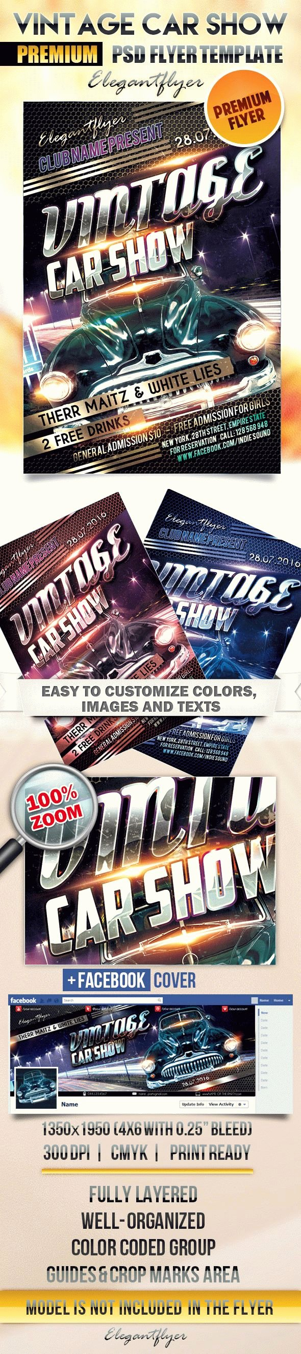 Blank Car Show Flyer New Vintage Car Show Flyer Psd Template Cover