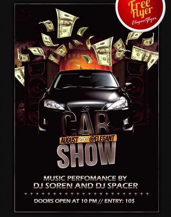 Blank Car Show Flyer Unique 25 Car Show Flyer Templates Free & Premium Download